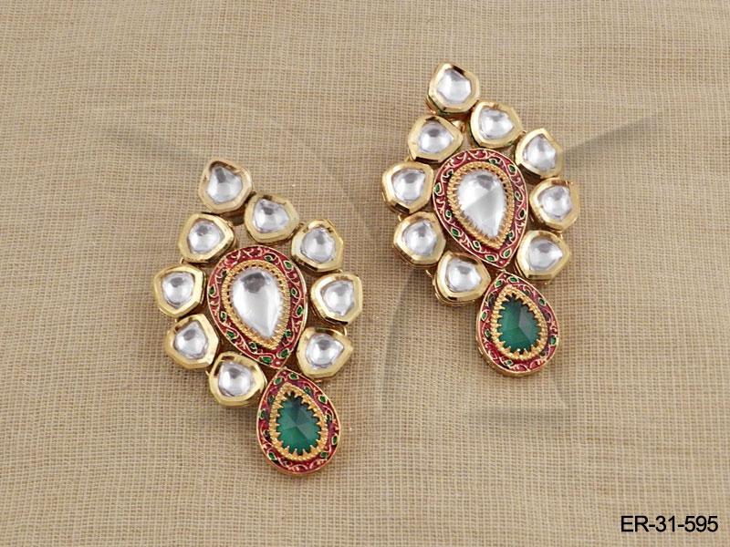 Kundan Earings : Ronak Design Kundan Earring Kundan ...