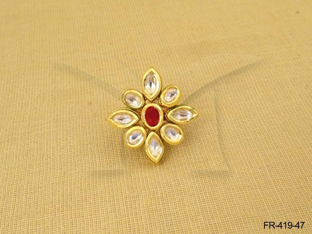Kundan Finger Ring jewelry