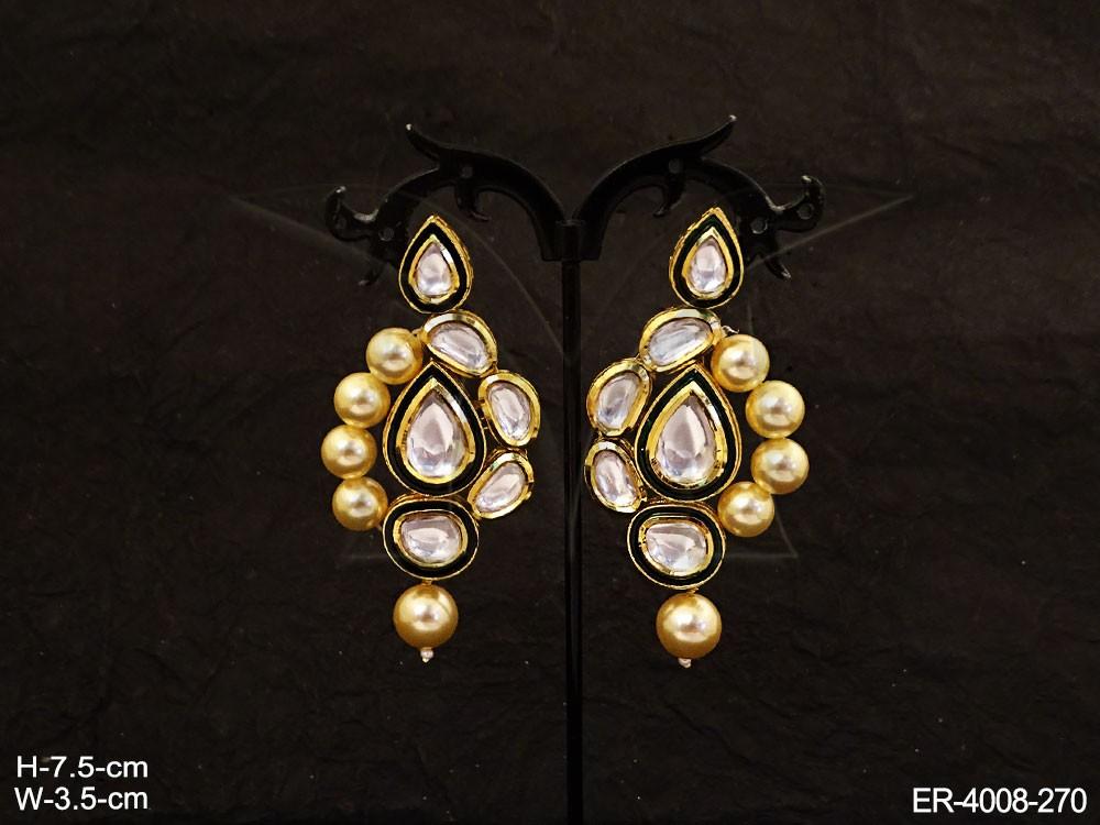 Kundan jewelry earrings