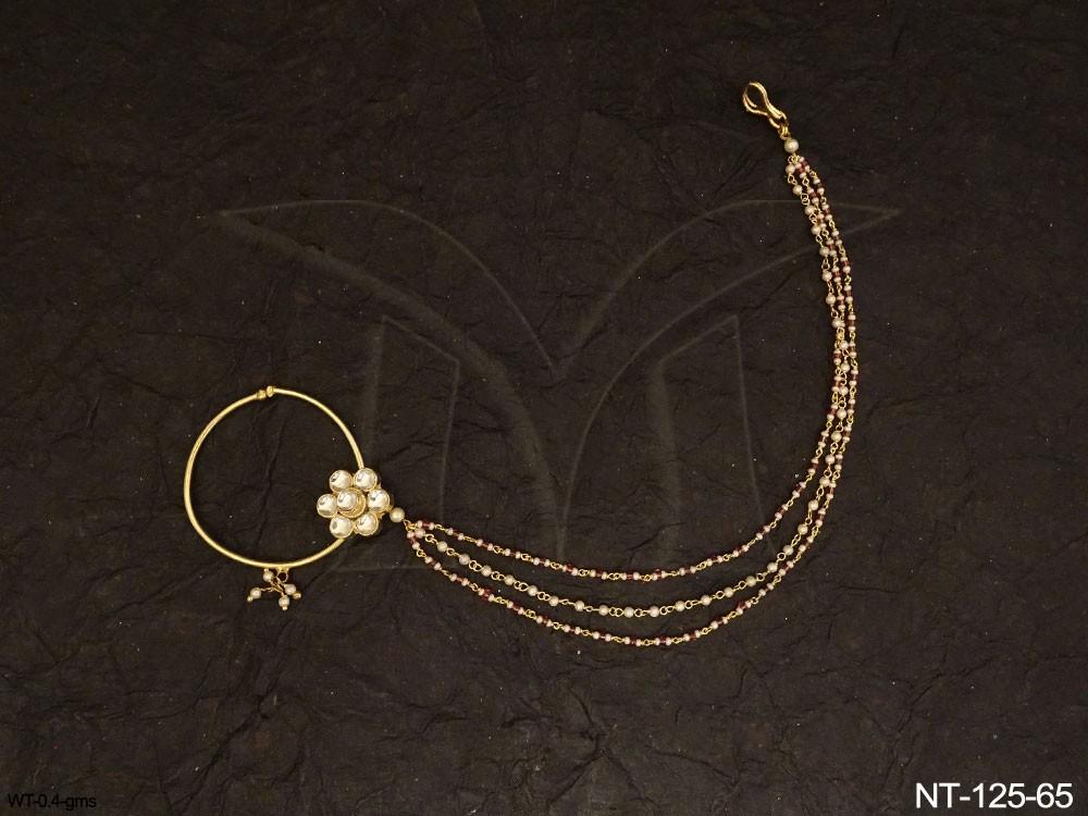 Traditional kundan jewelry Nath