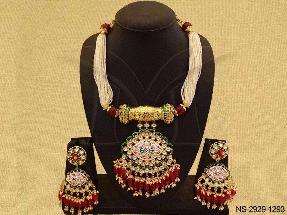 Traditional kundan jewelry Necklace