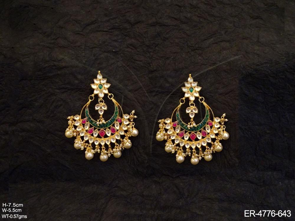 Traditional Kundan Jewellery Earrings