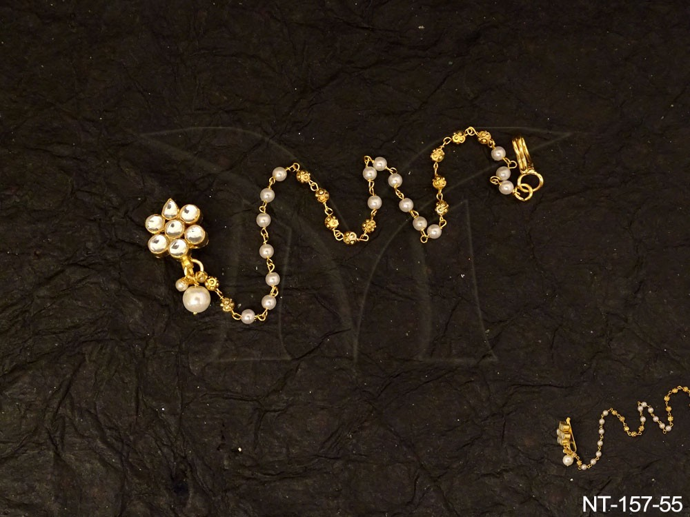 Traditional Kundan jewellery Nath