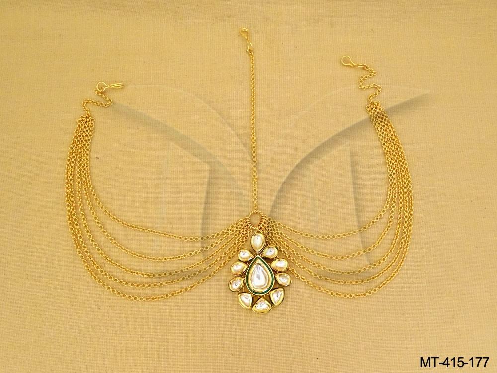 Bridal Kundan Maang Tikka Setj jewellery