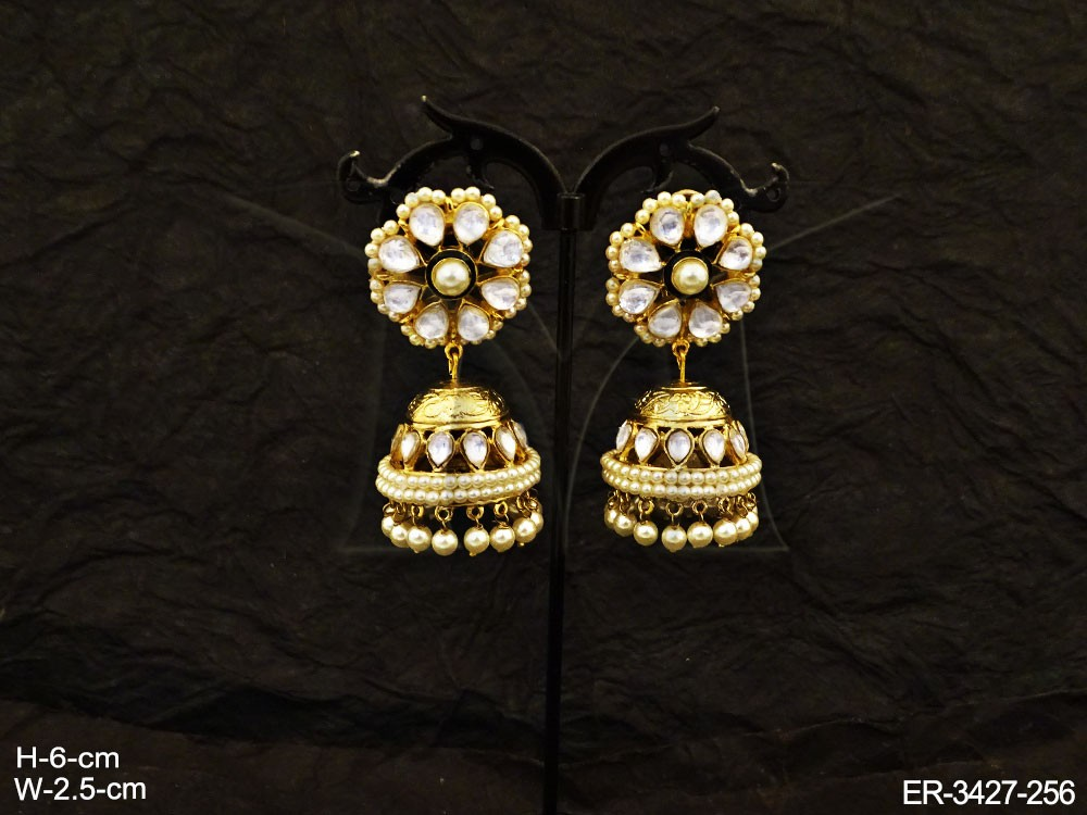 Traditional Bollywood Kundan Earrings