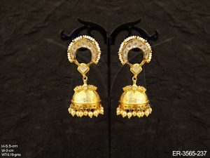 Bollywood Jhumki Kundan Earrings