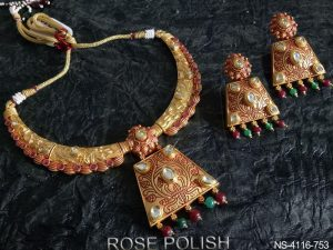 Square Kundan Necklace Set