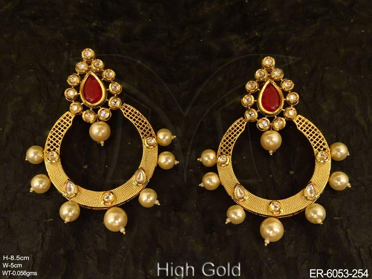 Chand Bali Kundan Earrings