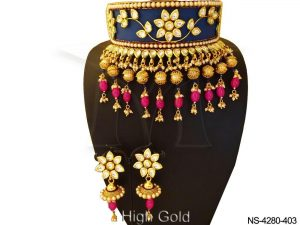 Chokar Designer Heavy Kundan Necklace Set